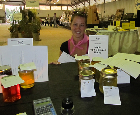 honey  judging at Millarville Fair beekeeping