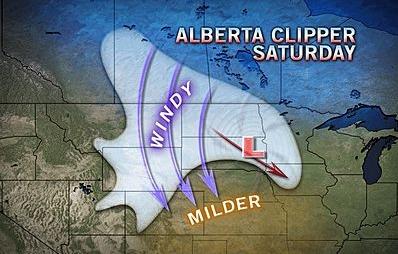 weather map Alberta Clipper